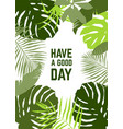 vertical frame tropical leaves vector image