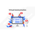 virtual communication concept modern flat design vector image