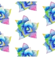 watercolor seamless pattern with succulent vector image vector image