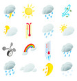 weather set icons vector image vector image