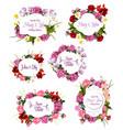 Wedding invitation save date floral frame set