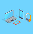 wireless equipment three dimensional icons vector image vector image