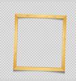 wooden square frame transparent background vector image vector image