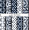 arabic patterns vector image