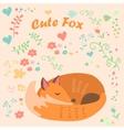 a cute fox vector image