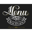 Menu Chalk lettering vector image