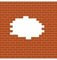 Brown brick wall background vector image
