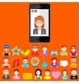 Mobile Social Media vector image