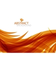 Abstract orange wave vector image
