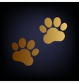 Animal Tracks sign vector image vector image