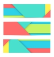 Banner of modern material design vector image vector image
