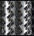 baroque striped black and white seamless vector image vector image
