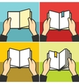 Book for learning in hands vector image vector image