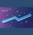 business growth concept with isometric arrows vector image vector image