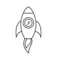 business rocket start launch success concept vector image vector image