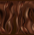 chocolate abstract background dark browing vector image vector image