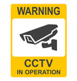 closed circuit television signs or cctv vector image