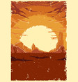 desert landscape vintage colorful template vector image