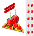 Discounts for birthday when buying pizza Candles vector image vector image