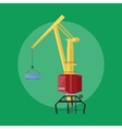 Dockside crane icon vector image