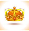 fancy cartoon golden crown icon vector image