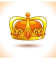 fancy cartoon golden crown icon vector image vector image