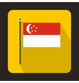 Flag of Singapore icon flat style vector image vector image