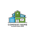 flat design real estate logo modern house agency vector image vector image