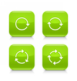 Green arrow refresh reload rotation repeat icon vector image vector image