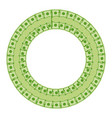 green money round frame vector image vector image