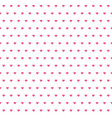 hearts pattern valentine day background vector image
