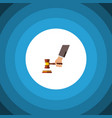isolated court flat icon crime element can vector image