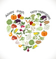 Isolated heart of vegetables vector image vector image