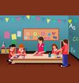 kids in preschool vector image vector image