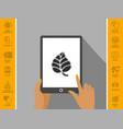 leaf symbol - halftone logo vector image