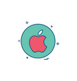 media network social apple icon design vector image