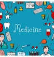 Medicine sketch background with medical symbols vector image vector image
