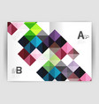 modern minimalistic geometrical square business vector image vector image