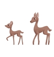 Mother deer and fawn vector image