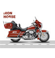motorcycle image iron horse vector image