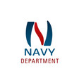 navy department symbol for nautical company emblem vector image vector image