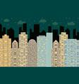 night urban landscape vector image vector image