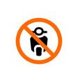 no motorcycle forbidden sign prohibition symbol vector image vector image