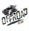 off-road tire lettering vector image vector image