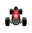 old vintage formula car racing vector image vector image