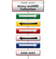 One way traffic board collection vector image