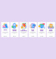 online shopping concept icon set support phone vector image