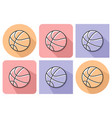 outlined icon of basketball with parallel and not vector image