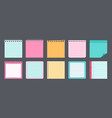 paper sticky note flat set memo messages vector image vector image