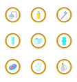 personal hygiene icons set cartoon style vector image vector image